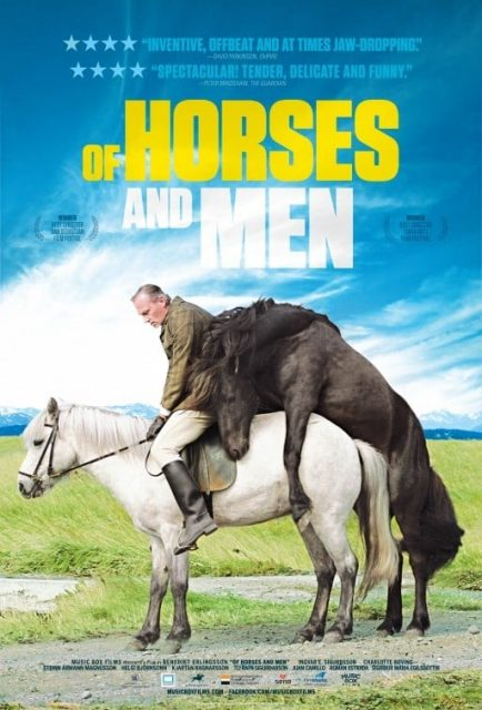 "Poster for the movie ""Of Horses and Men"""